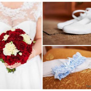buty ślubne podwiązka ślubna